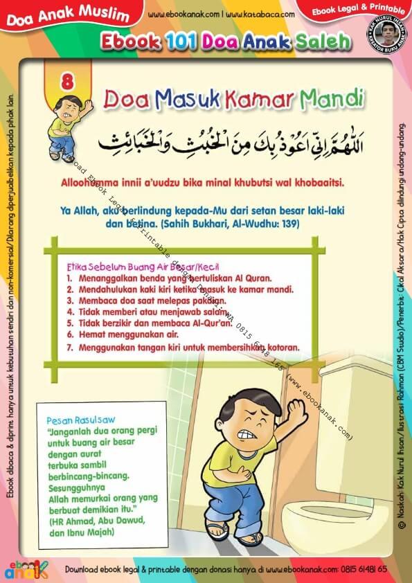 Ebook 101 Doa Anak Saleh, Doa Masuk Kamar Mandi (10)