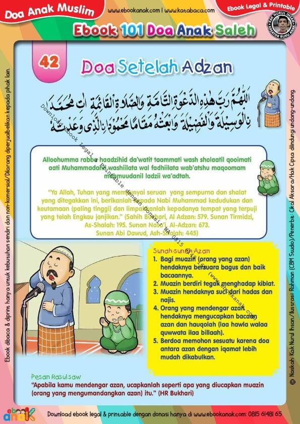 Ebook 101 Doa Anak Saleh, Doa Setelah Adzan (44)