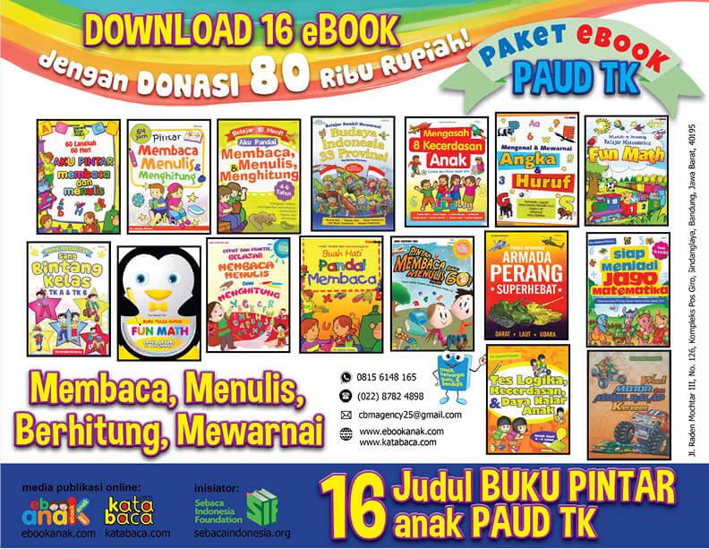 Ebook 16 Buku Paket Anak Pintar Calistung dan Mewarnai PAUD TK