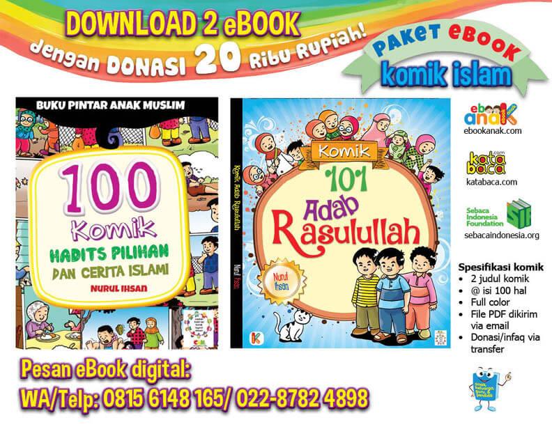 Ebook 2 Buku Komik Islam Hadis dan Adab Rasulullah