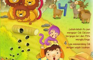 Ebook 2 in 1 Dongeng dan Aktivitas, Bukit Angka, Tiga Singa dan Empat Rusa (7)