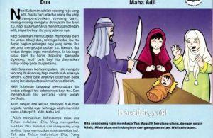 Ebook 99 Asmaul Husna for Kids, Al Muqsith, Bayi Dipotong Dua (88)