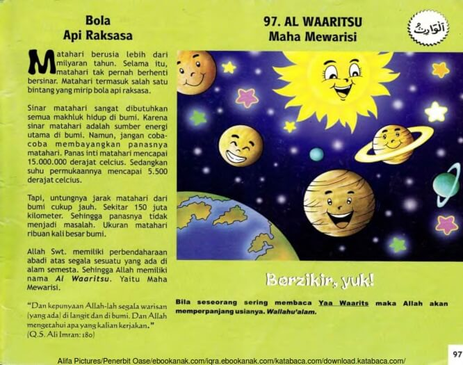 Ebook 99 Asmaul Husna for Kids, Al Waaritsu, Bola Api Raksasa (99)