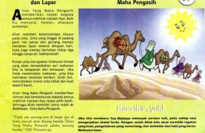 Ebook 99 Asmaul Husna for Kids Ar Rahman, Unta Si Tahan Lapar (3)