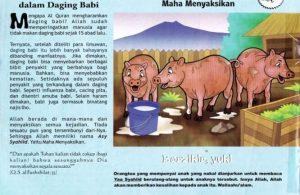 Ebook 99 Asmaul Husna for Kids, Asy Syahiid, Sepuluh Penyakit dalam Daging Babi (52)