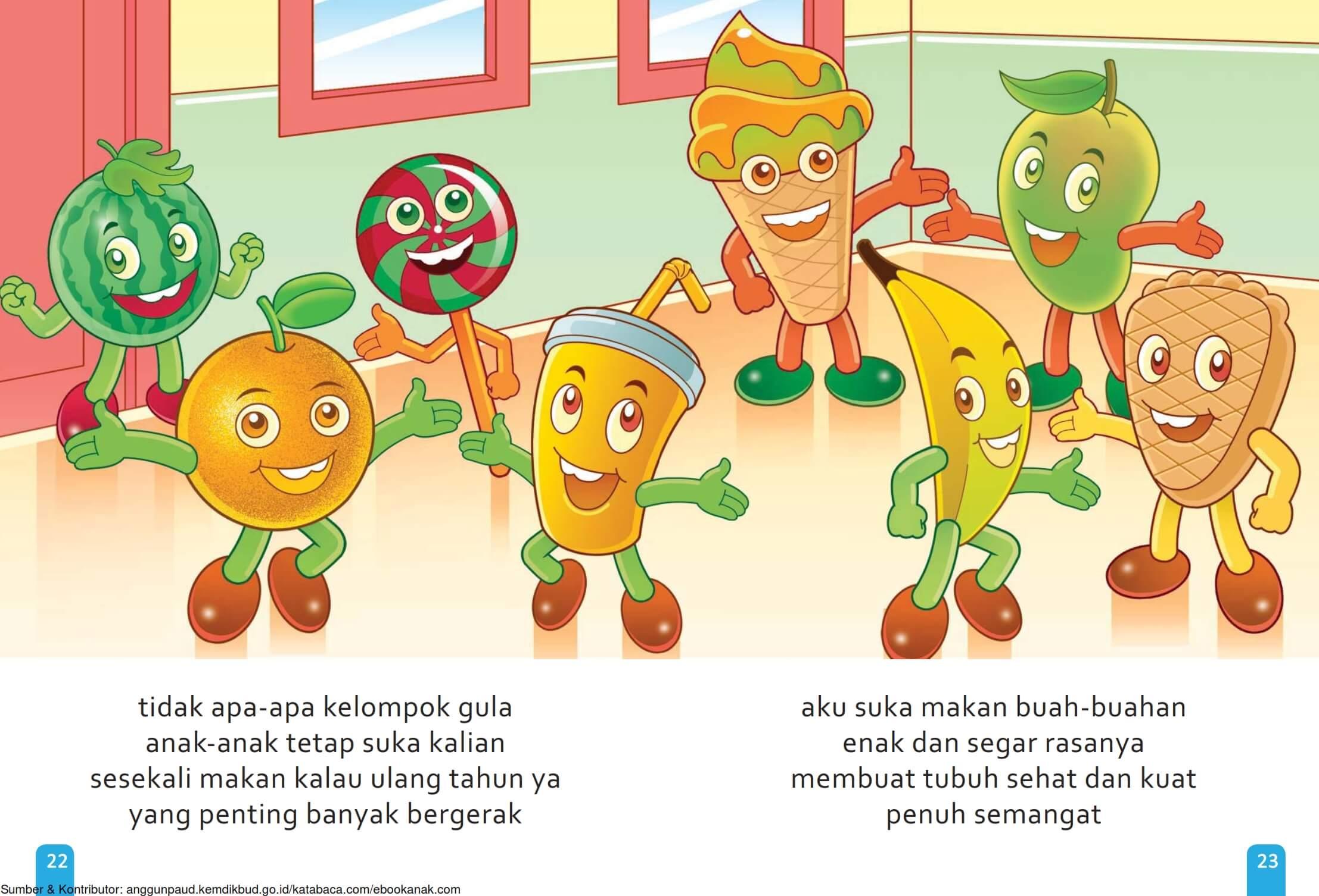 Ebook Cerita Anak, Aku Suka Buah, Enak dan Segar Rasanya (14)