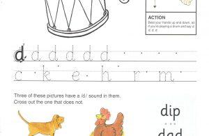 "Belajar Menulis Hurup ""D"" Besar dan ""d"" Kecil"