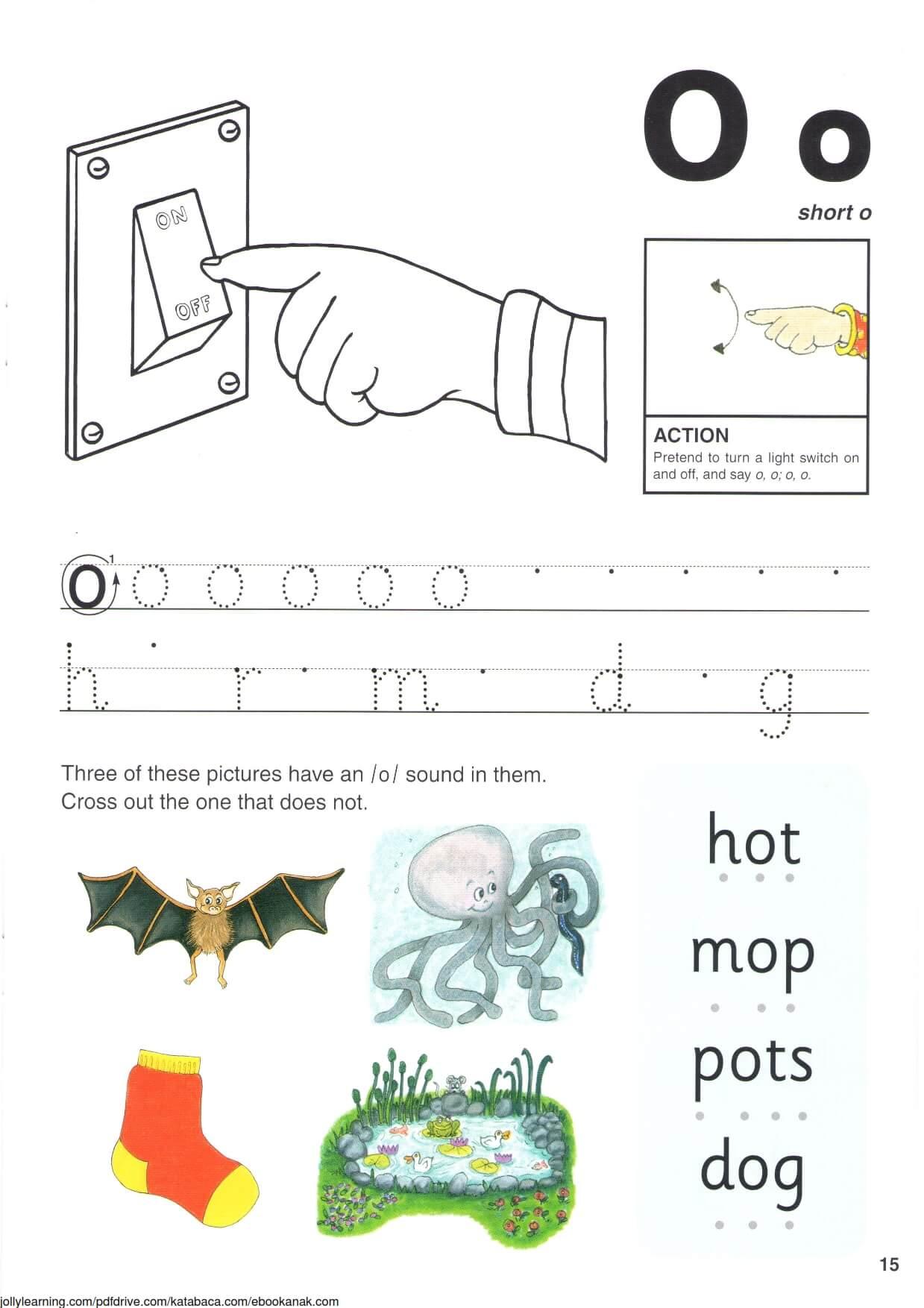"""Belajar Menulis Hurup """"O"""" Besar dan """"o"""" Kecil"""