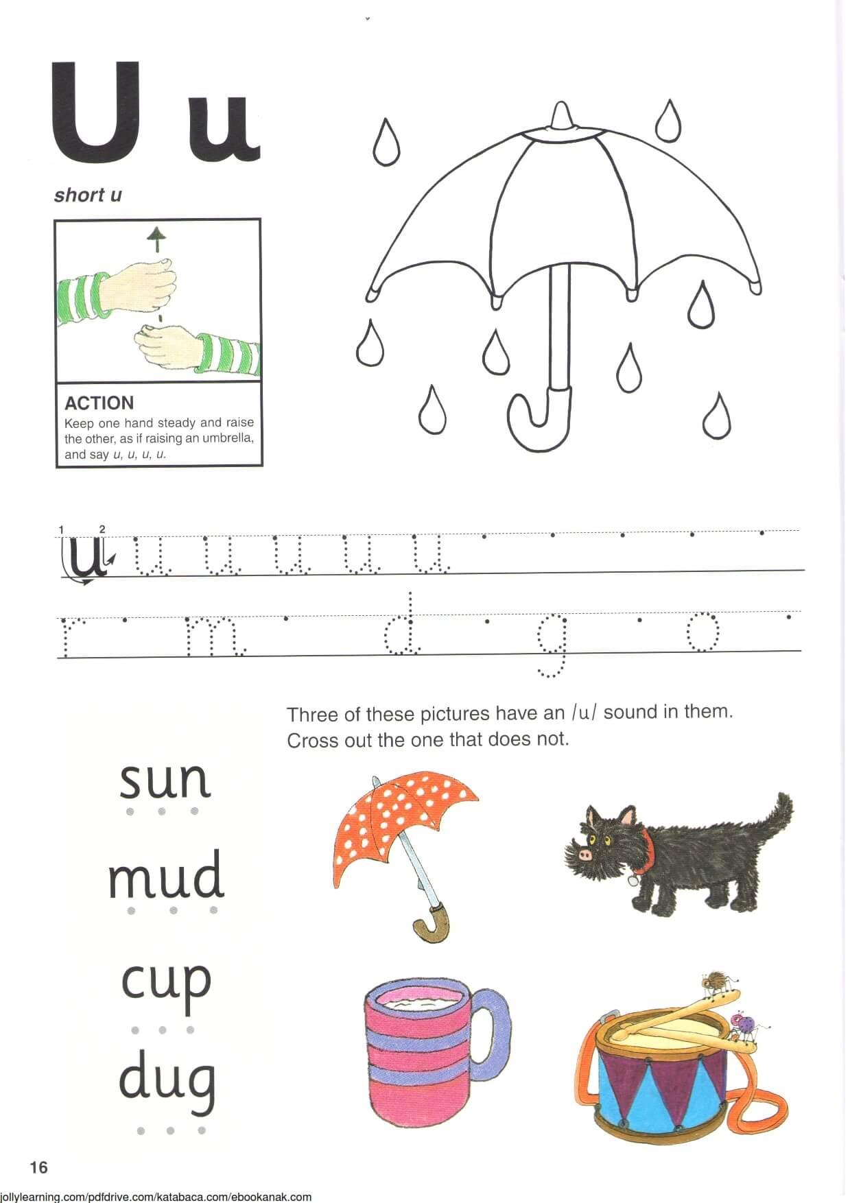 """Belajar Menulis Hurup """"U"""" Besar dan """"u"""" Kecil"""