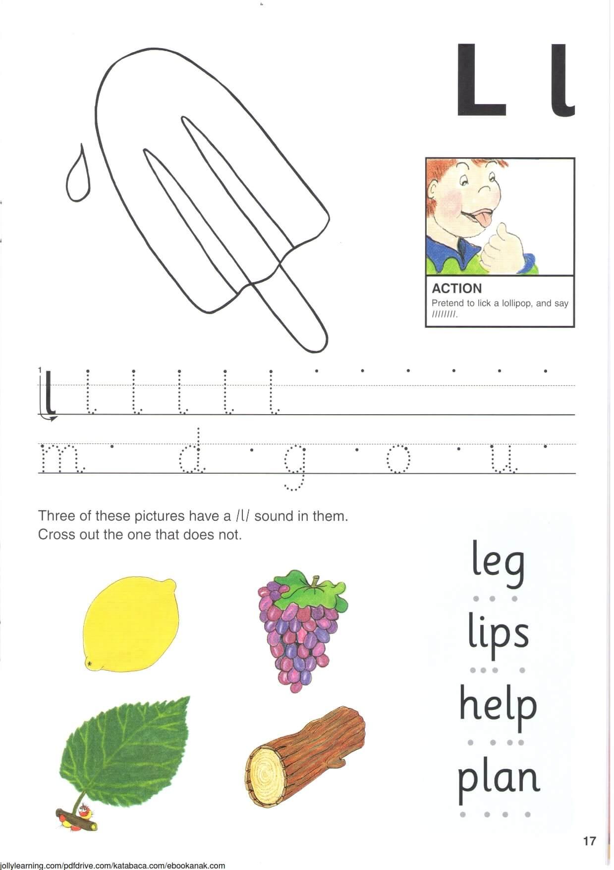 """Belajar Menulis Hurup """"L"""" Besar dan """"l"""" Kecil"""