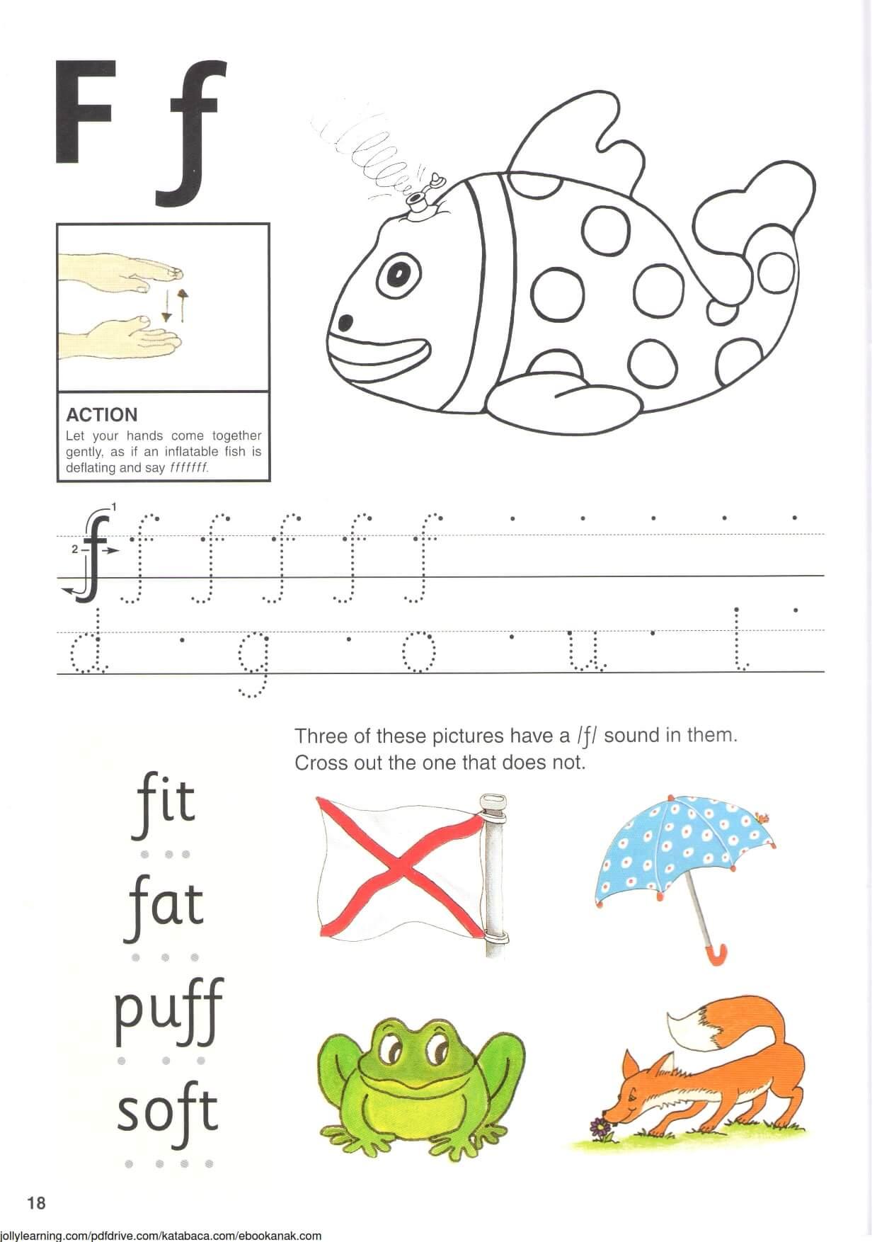 """Belajar Menulis Hurup """"F"""" Besar dan """"f"""" Kecil"""