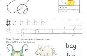 """Belajar Menulis Hurup """"B"""" Besar dan """"b"""" Kecil"""