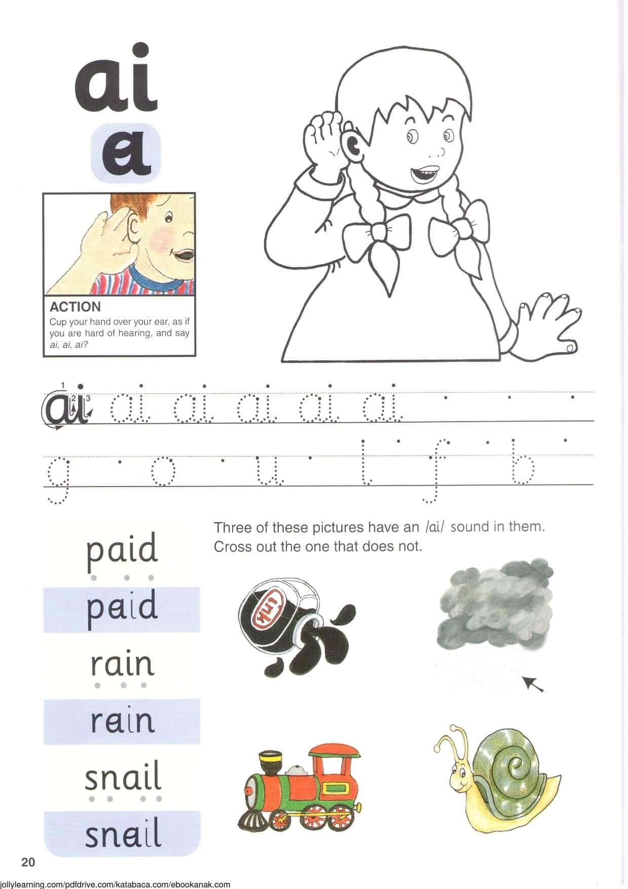 """Belajar Menulis Hurup """"a"""" Kecil dan """"i"""" Kecil"""