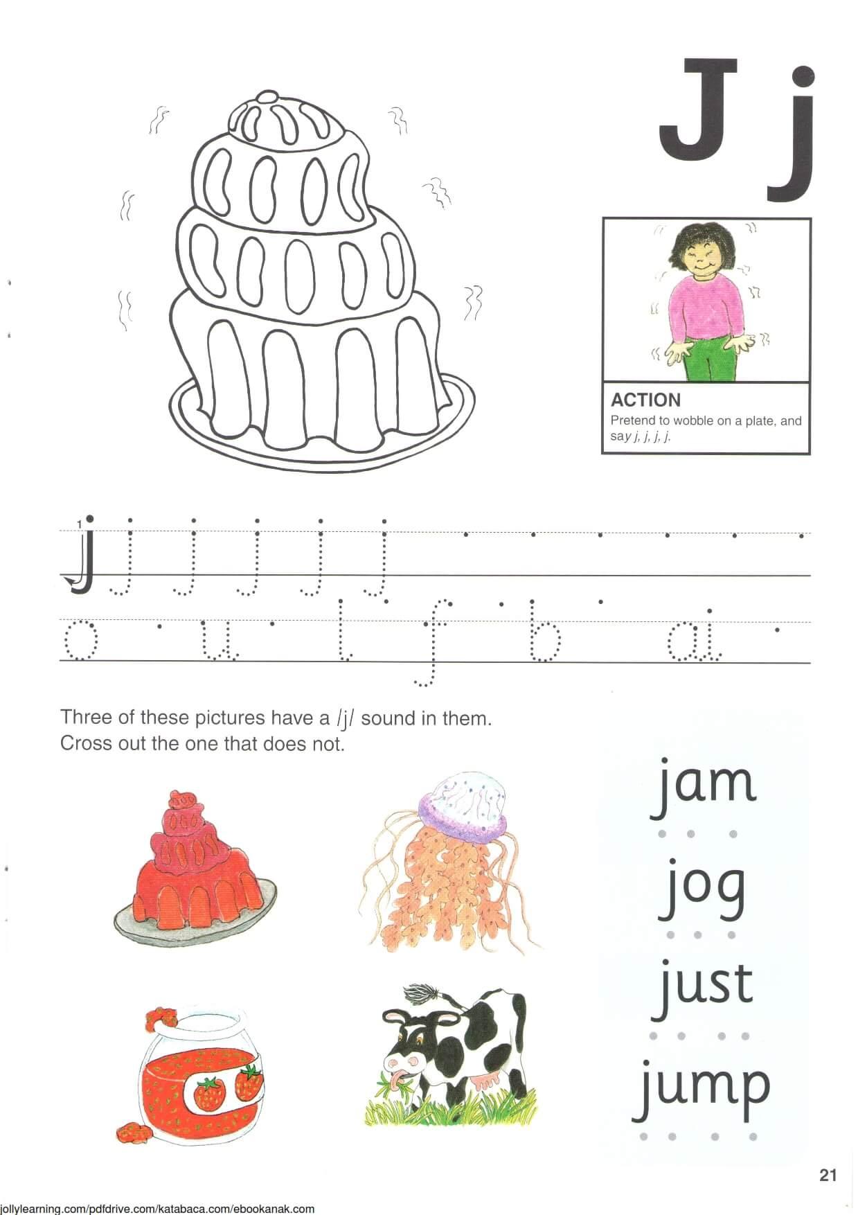 """Belajar Menulis Hurup """"J"""" Besar dan """"j"""" Kecil"""