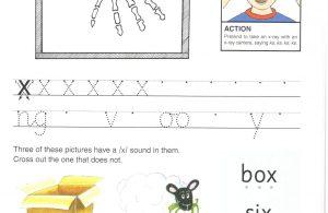 """Belajar Menulis Hurup """"X"""" Besar dan """"x"""" Kecil"""