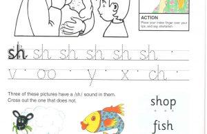 """Belajar Menulis Hurup Kecil """"sh"""""""