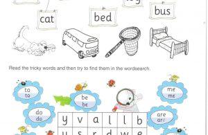 Menghubungkan Kata dan Mewarnai Gambar