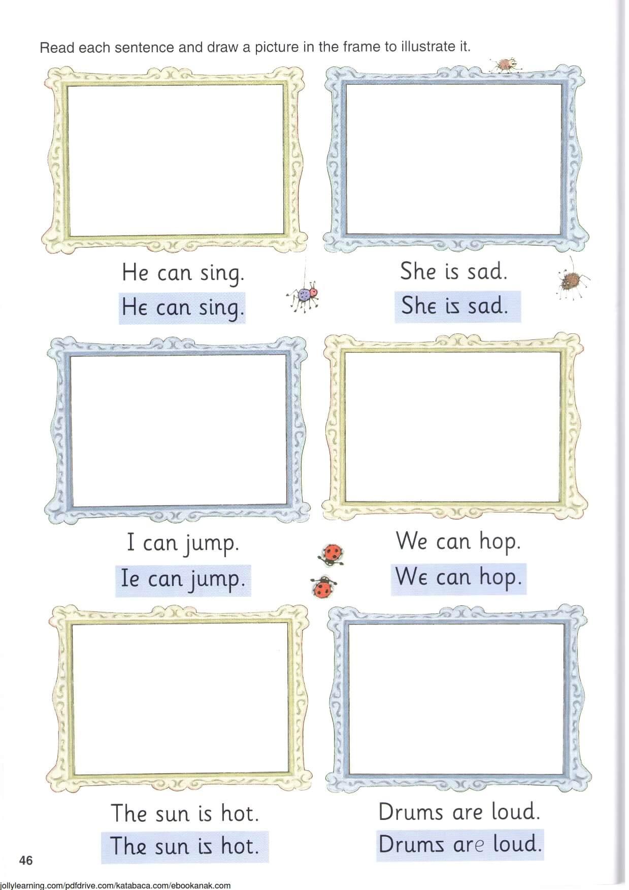 Belajar Menggambar Sesuai Kalimat