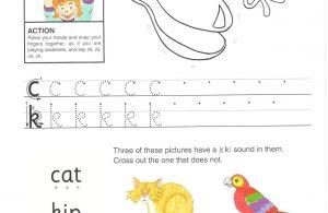 Belajar Menulis Hurup C dan K