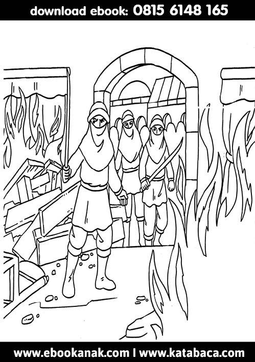 Para Pemberontak Membakar Rumah Khalifah Utsman bin Affan