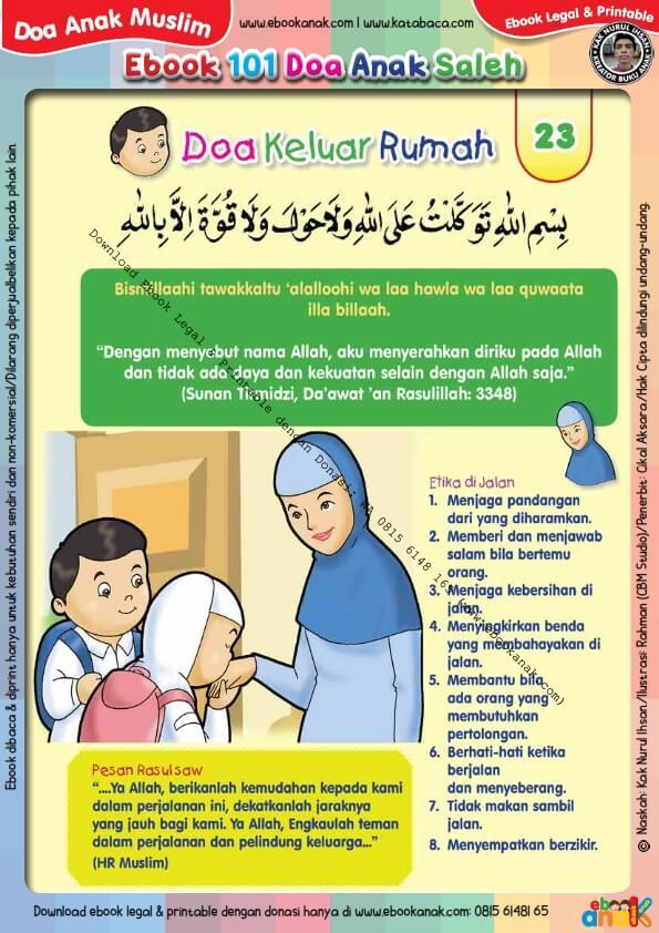 Ebook PDF 101 Doa Anak Saleh, Doa Keluar Rumah (25)