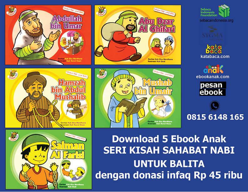 Ebook PDF 5 Buku Seri Kisah Sahabat Nabi untuk Balita