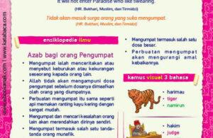 Ebook PDF 77 Pesan Nabi untuk Anak Muslim, Hadis Ancaman Bagi Pengumpat (48)
