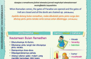 Ebook PDF 77 Pesan Nabi untuk Anak Muslim, Hadis Keistimewaan Bulan Ramadhan (74)
