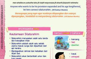 Ebook PDF 77 Pesan Nabi untuk Anak Muslim, Hadis Menyambung Silaturahim (72)