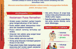Ebook PDF 77 Pesan Nabi untuk Anak Muslim, Hadis Menyegerakan Buka Puasa (68)