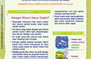 Ebook PDF 77 Pesan Nabi untuk Anak Muslim, Hadis Minum Cara Rasulullah (50)