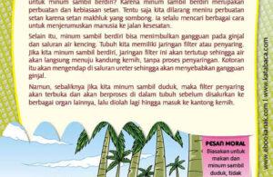 Ebook PDF 77 Pesan Nabi untuk Anak Muslim, Kisah Hadis Terpilih, Jangan Minum Sambil Berdiri (51)