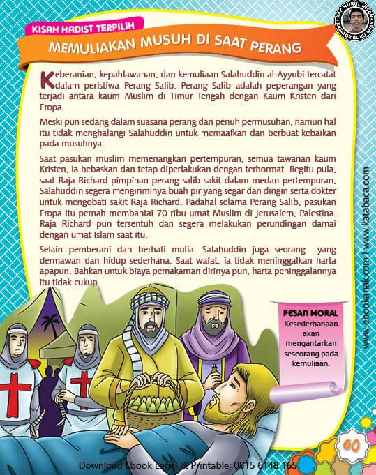Ebook PDF 77 Pesan Nabi untuk Anak Muslim, Kisah Hadis Terpilih, Memuliakan Musuh di saat Perang (67)