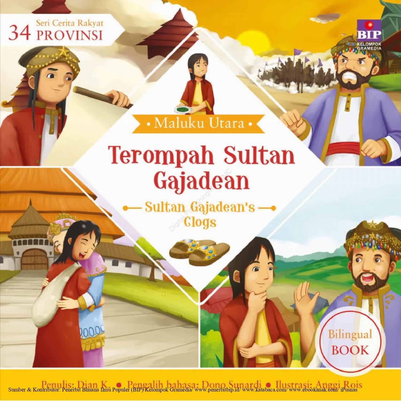 Ebook Seri Cerita Rakyat 34 Provinsi, Terompah Sultan Gajadean