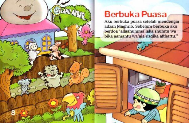 Ebook Seri Fikih Anak, Asyiknya Aku Puasa Ramadhan, Berbuka Puasa (5)