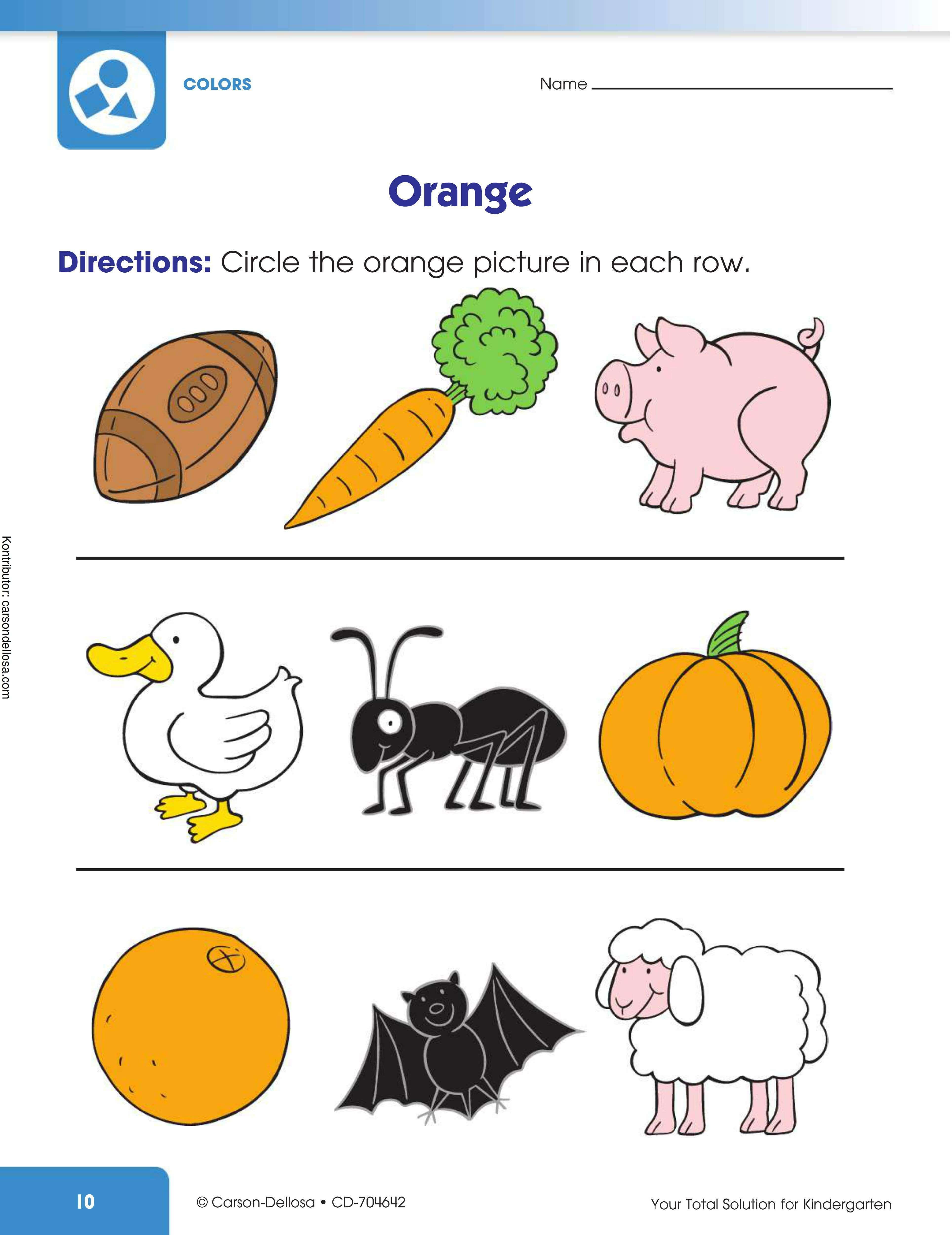 Belajar Melingkari Gambar Berwarna Oranye