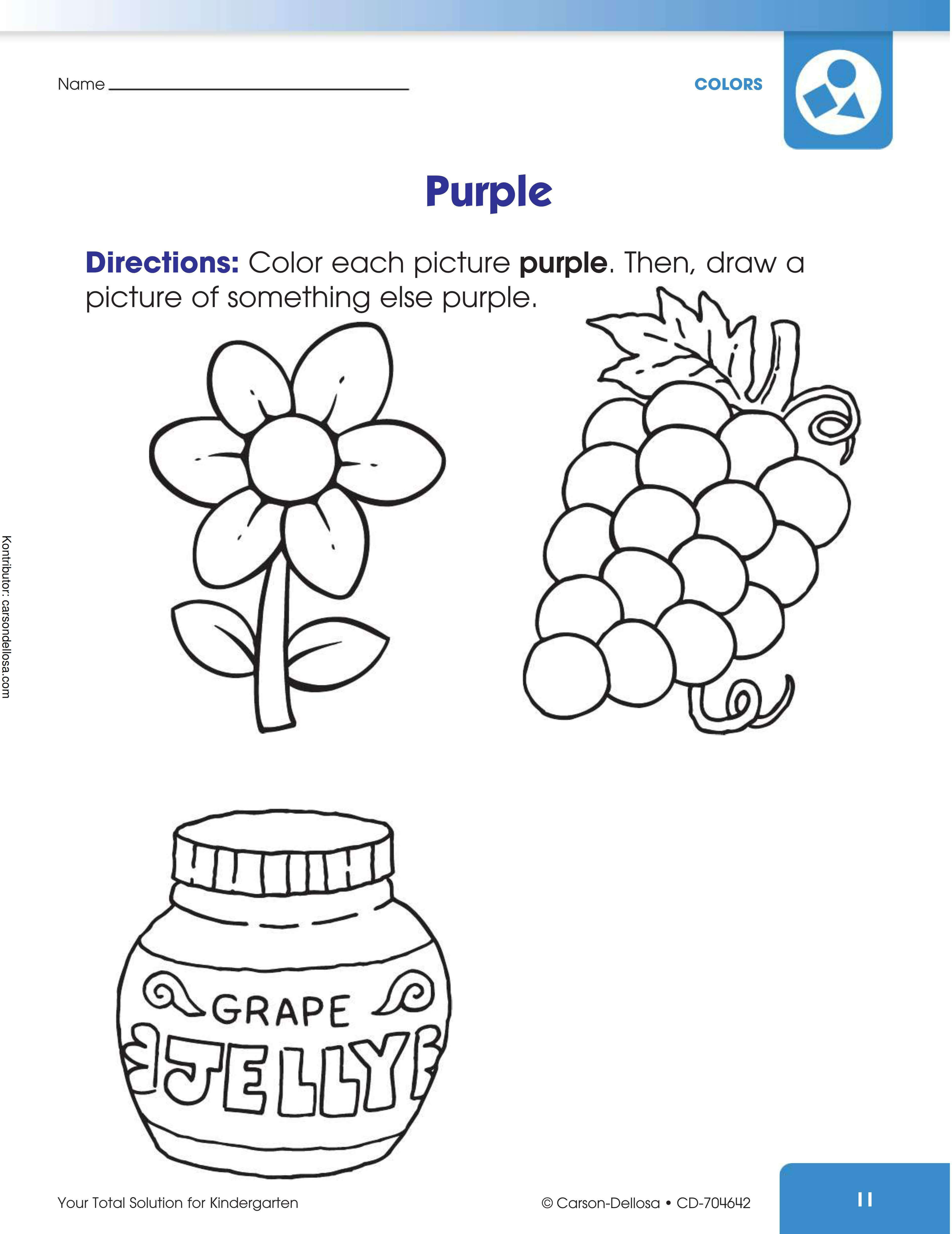 Belajar Menggambar dan Mewarnai Warna Ungu