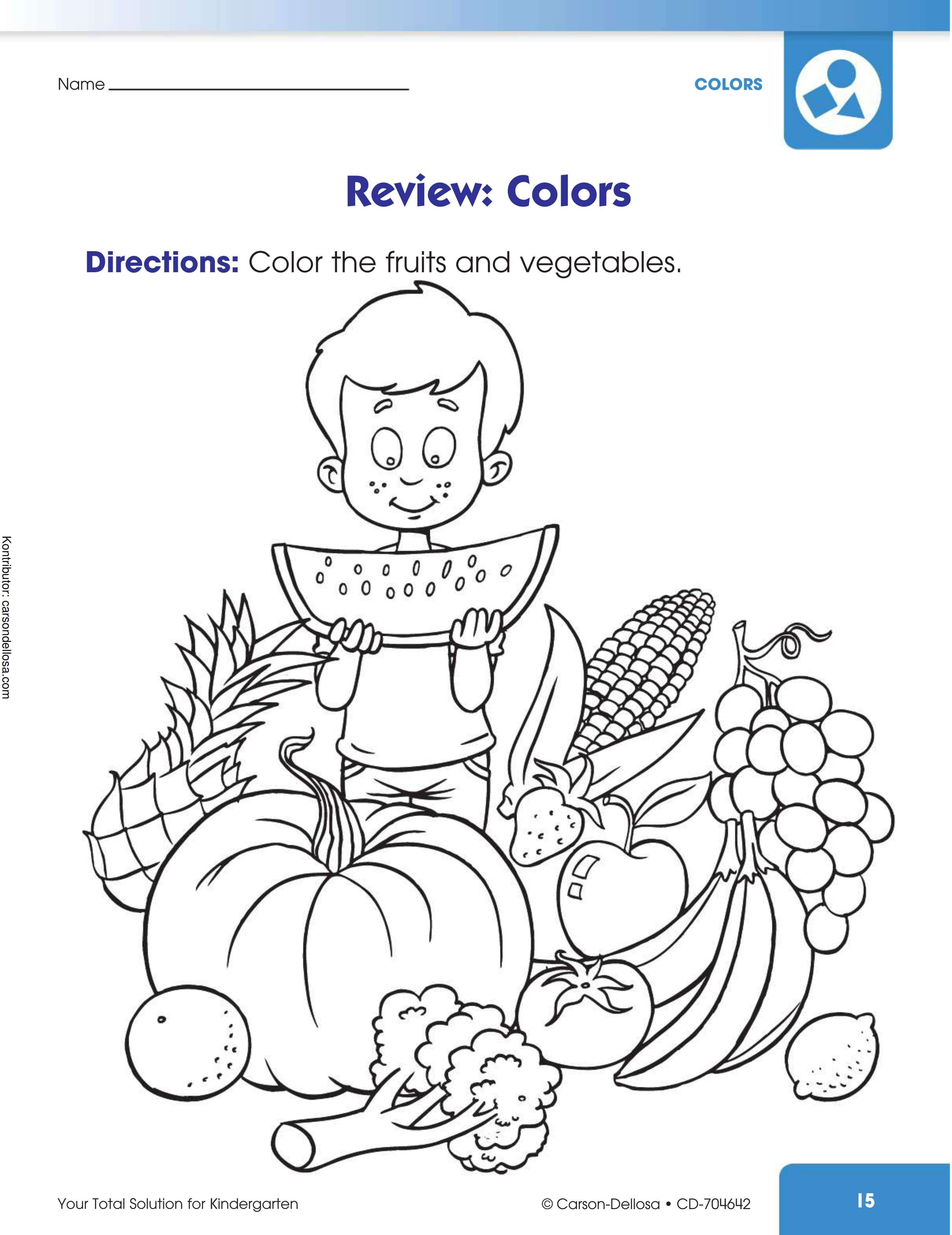 Belajar Mewarnai Buah Dan Sayuran