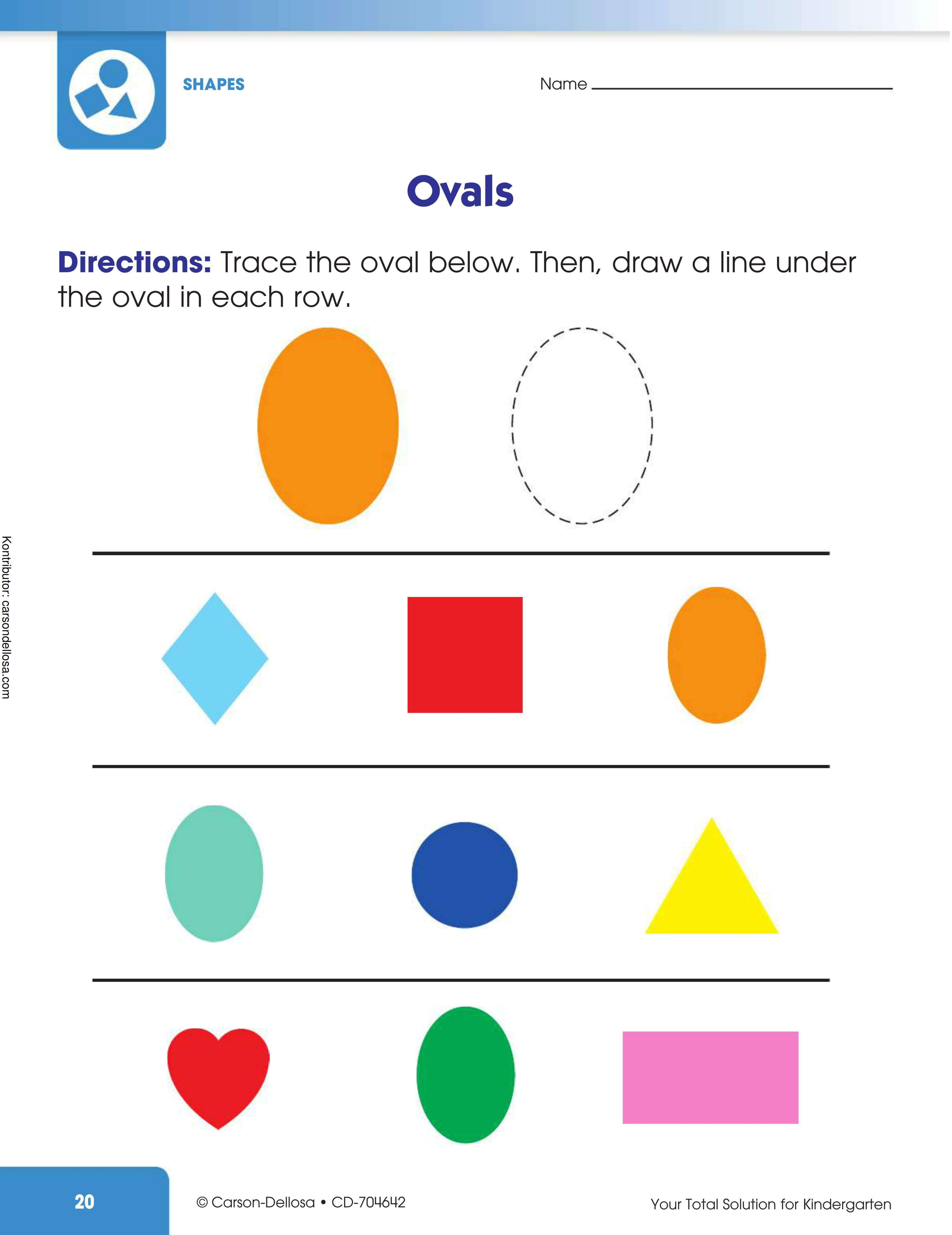 Belajar Mengenal dan Menggambar Benda Berbentuk Ovals