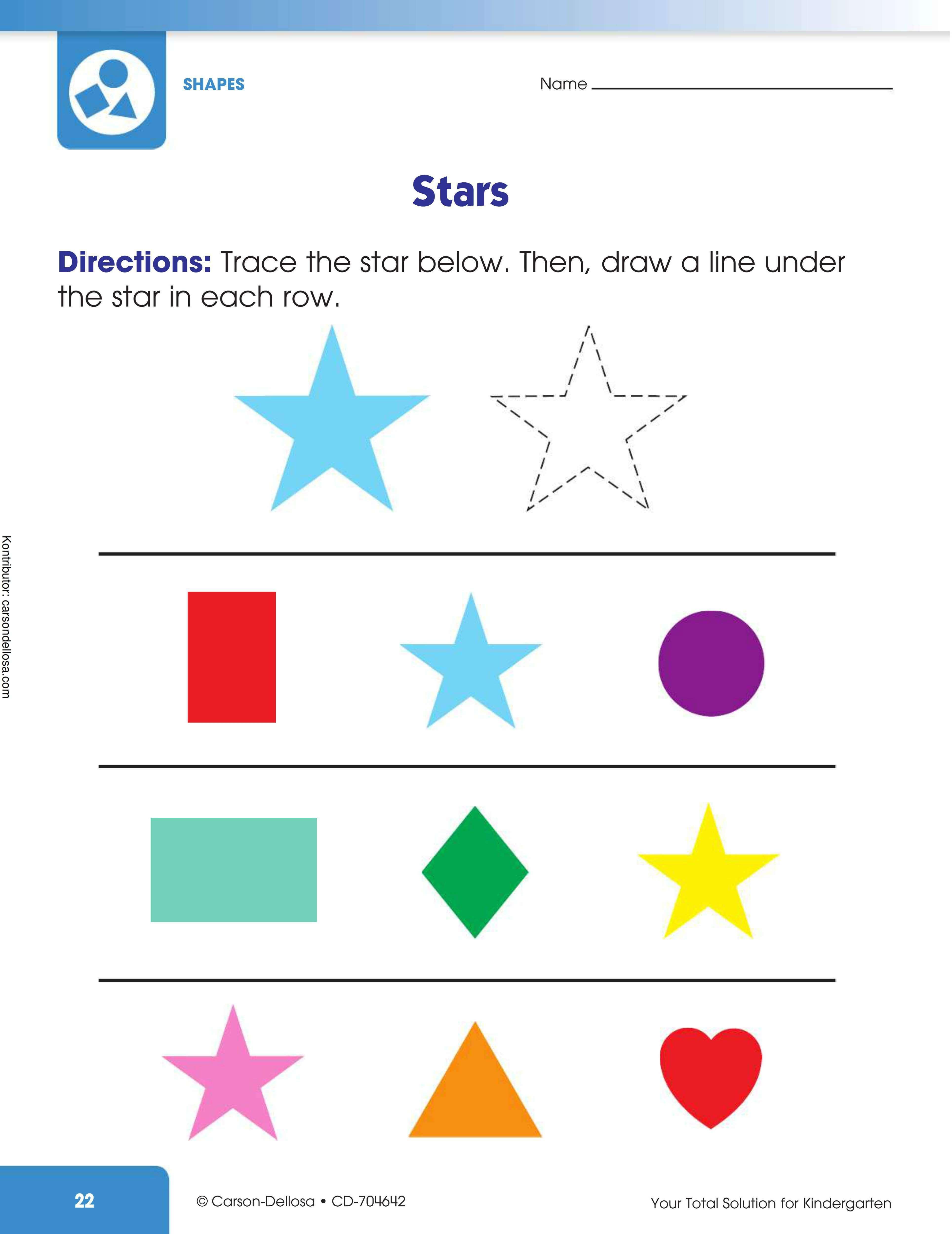 Belajar Mengenal dan Menggambar Bentuk Bintang