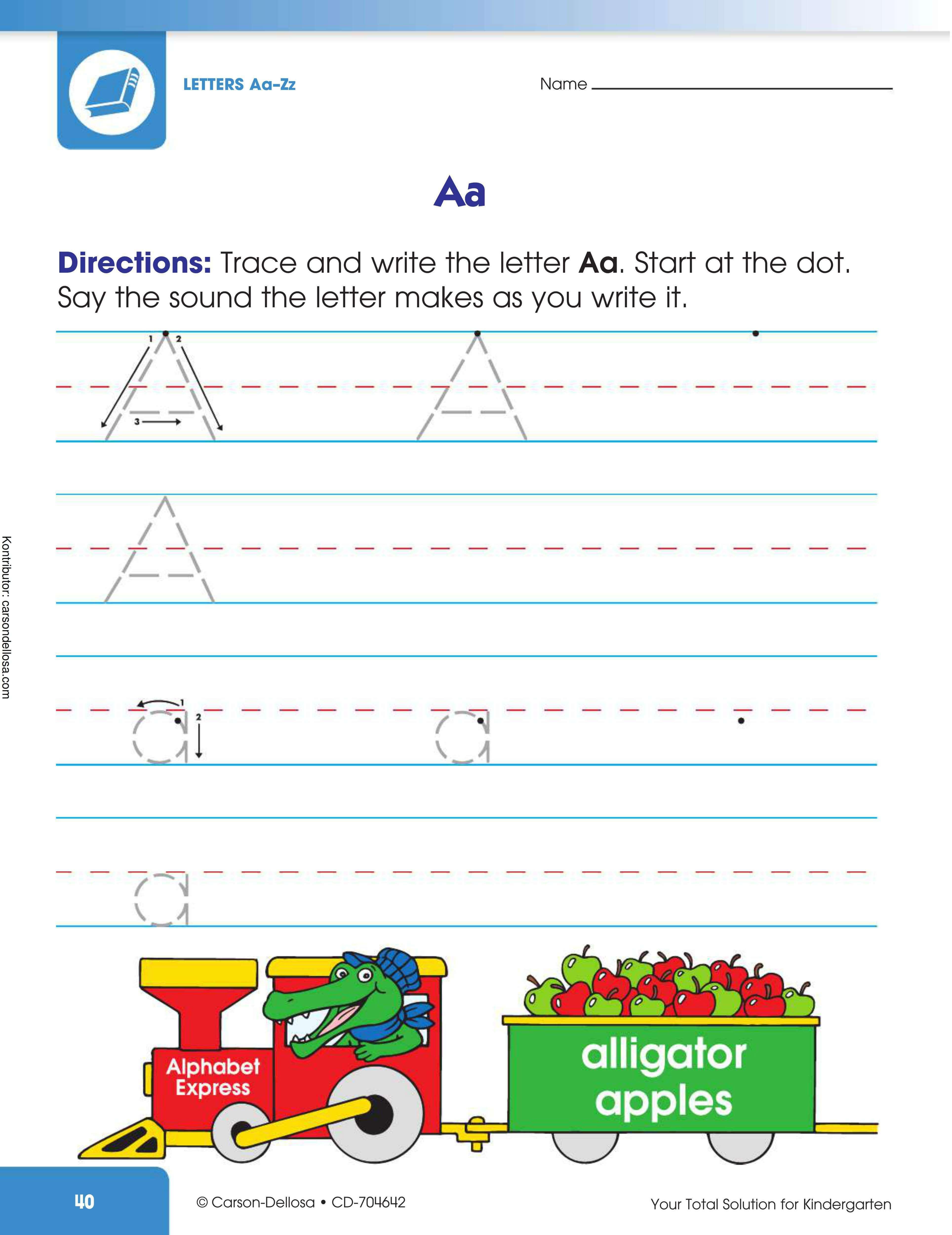 """Belajar Menulis Huruf """"A"""" Besar dan """"a"""" Kecil"""