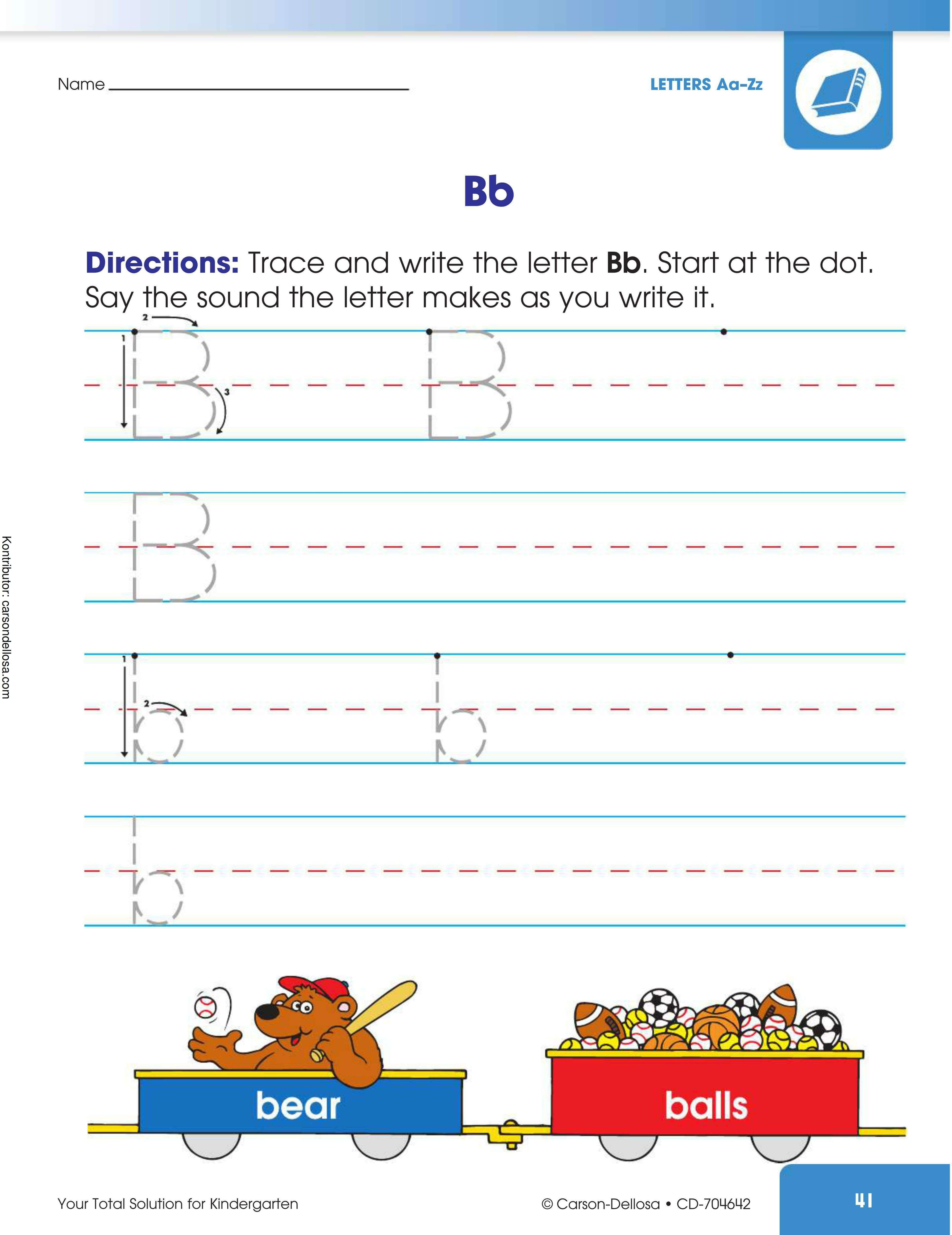 """Belajar Mengenal dan Menulis Huruf """"B"""" Besar dan """"b"""" Kecil"""