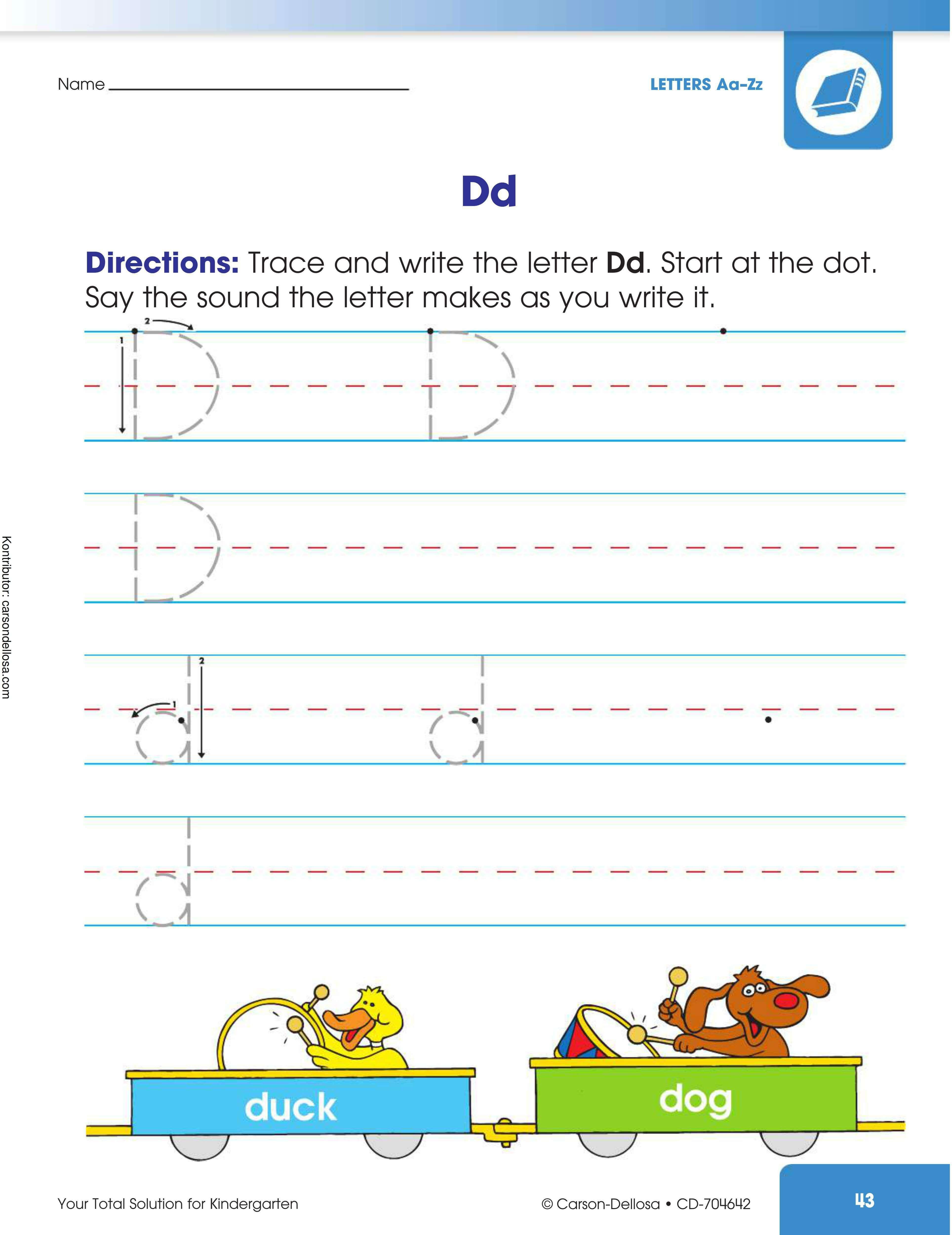 """Belajar Mengenal dan Menulis Huruf """"D"""" Besar dan """"d"""" Kecil"""