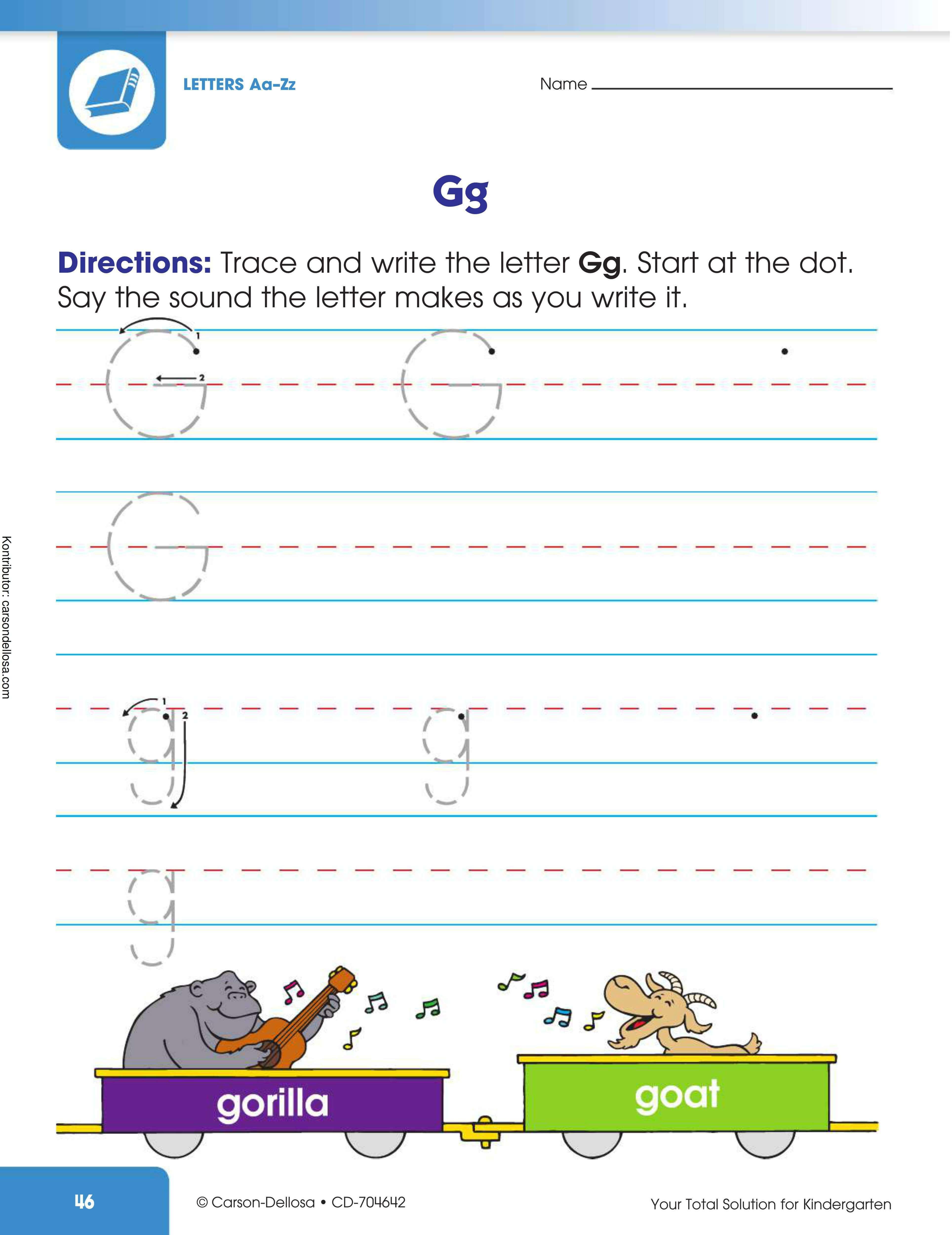 """Belajar Mengenal dan Menulis Huruf """"G"""" Besar dan """"g"""" Kecil"""