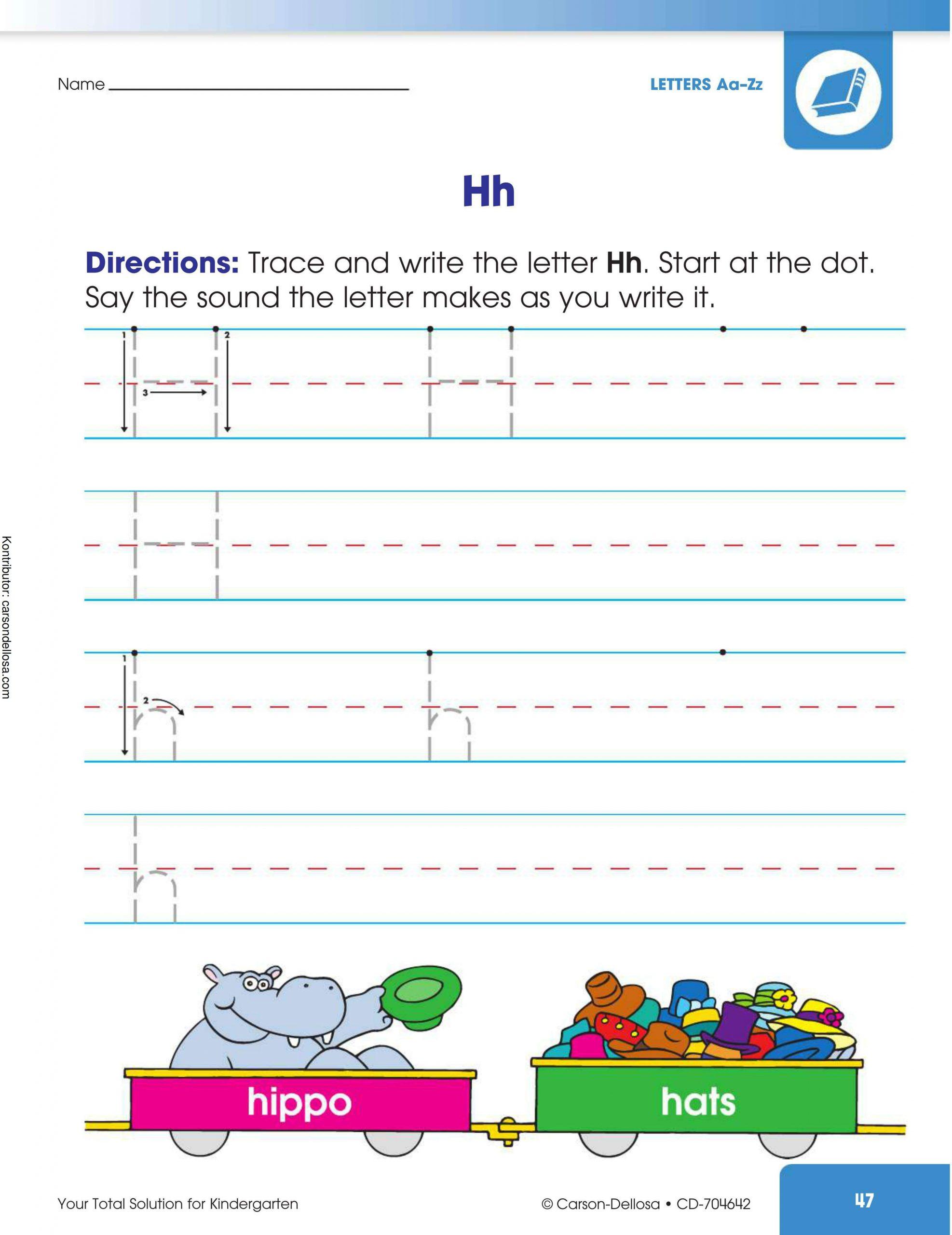 "Belajar Mengenal dan Menulis Huruf ""H"" Besar dan ""h"" Kecil"
