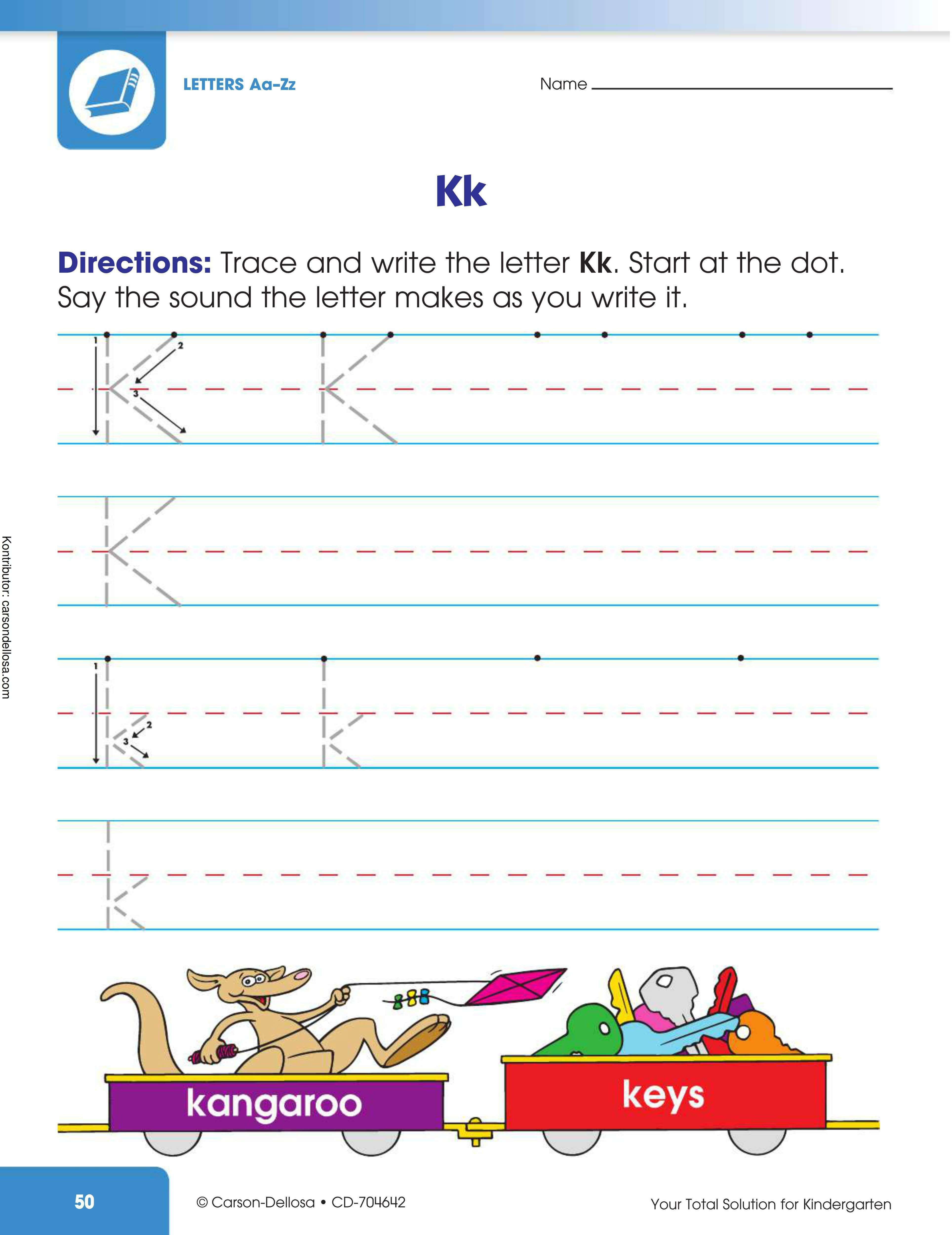 "Belajar Mengenal dan Menulis Huruf ""K"" Besar dan ""k"" Kecil"