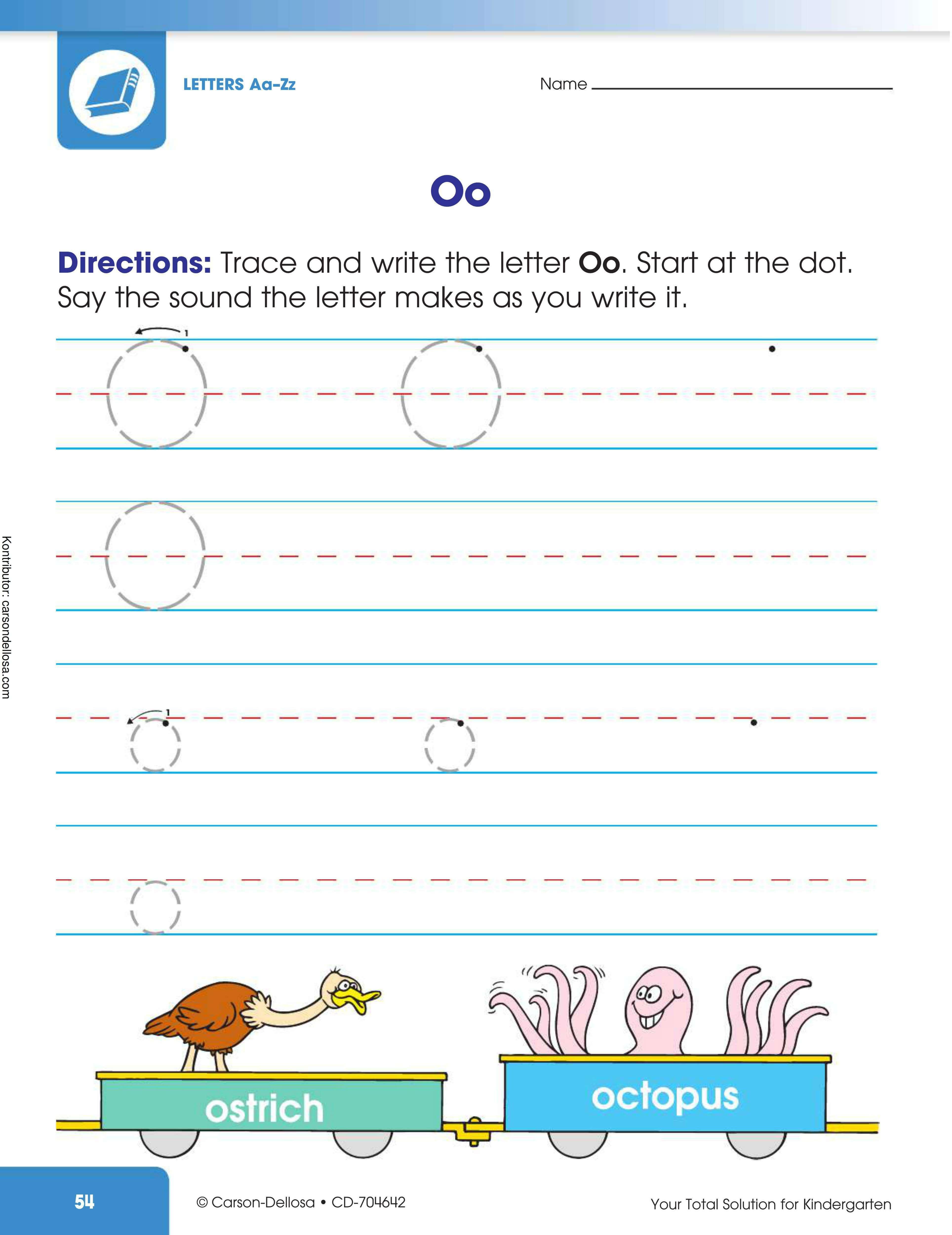 """Belajar Mengenal dan Menulis Huruf """"O"""" Besar dan """"o"""" Kecil"""