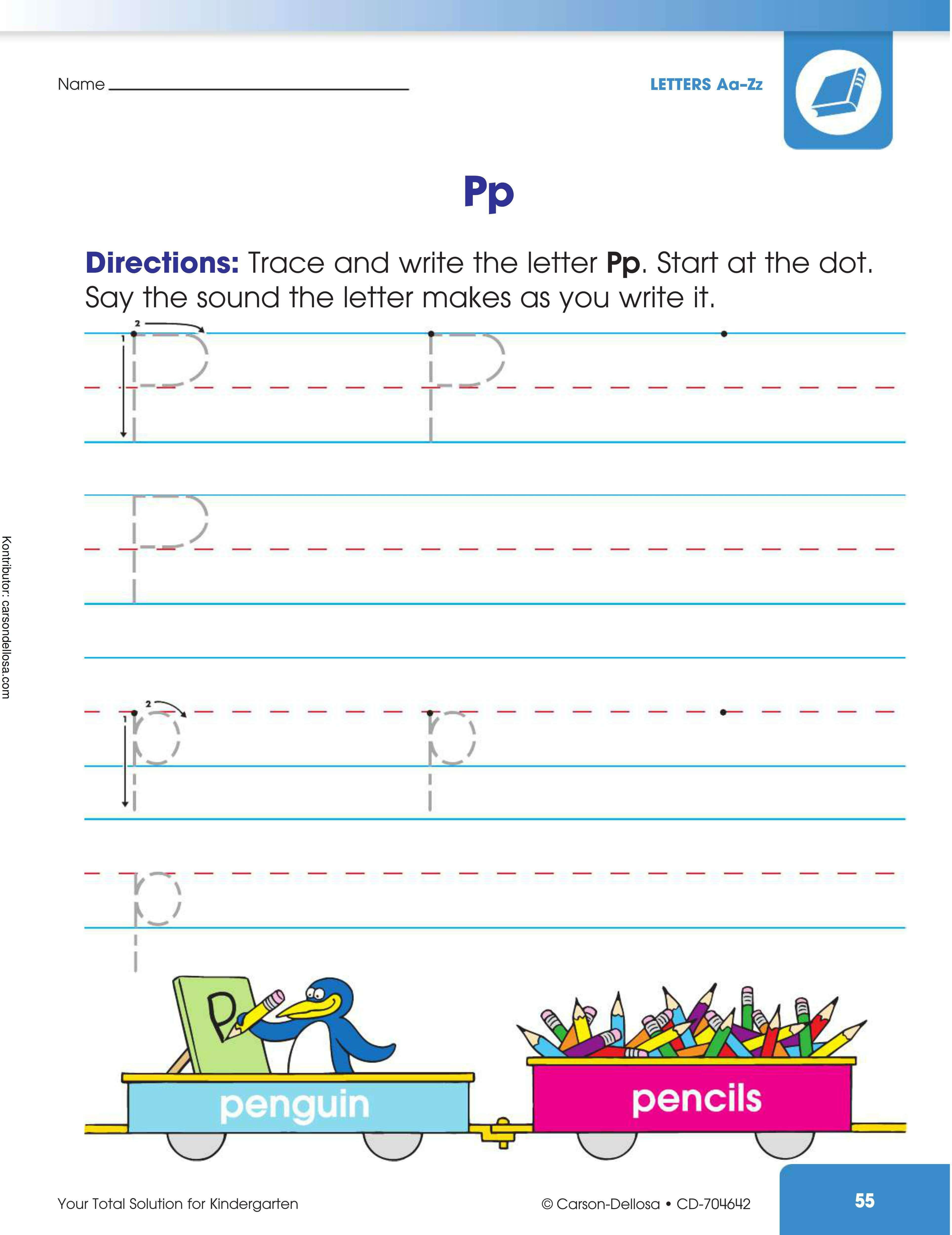 "Belajar Mengenal dan Menulis Huruf ""P"" Besar dan ""p"" Kecil"