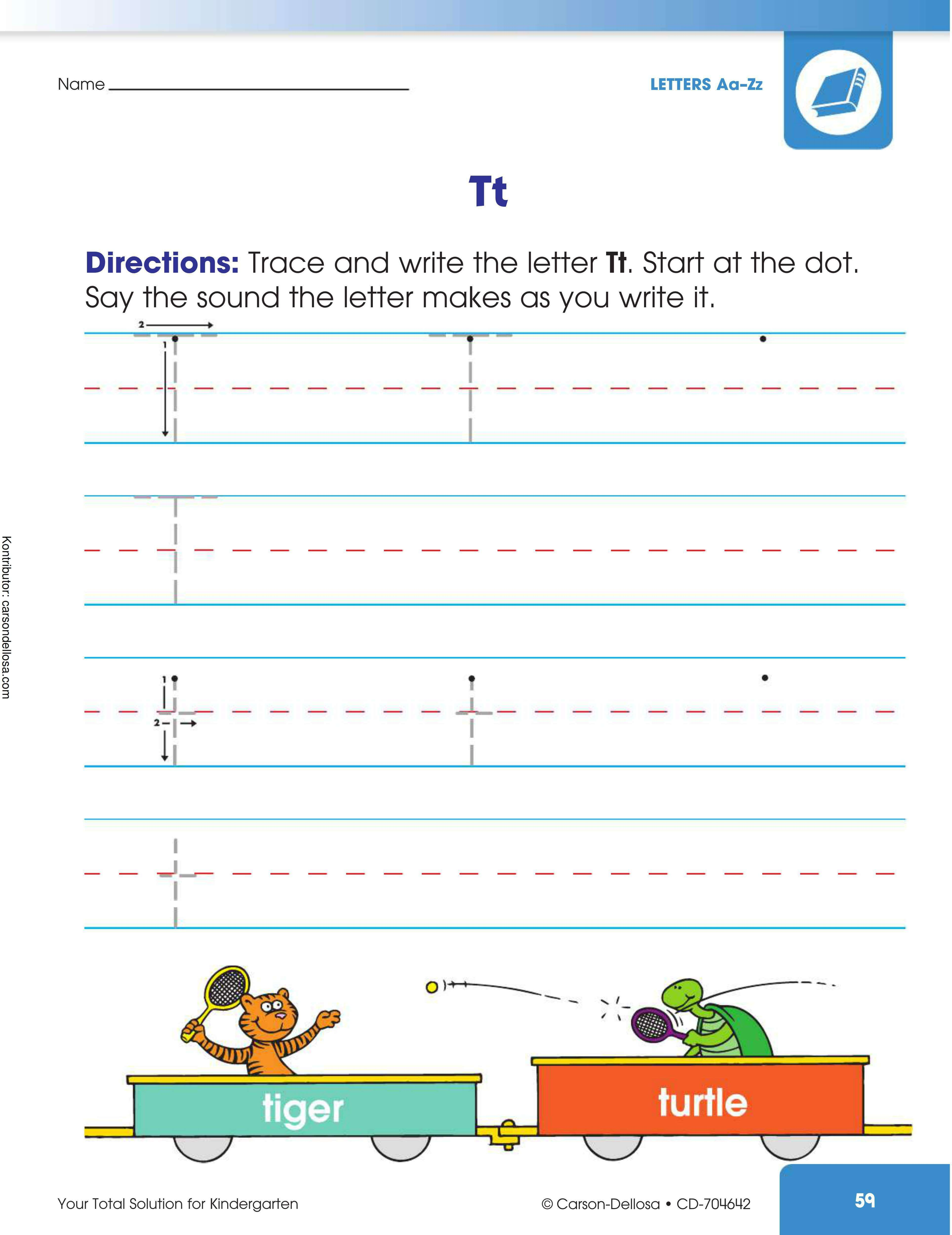 """Belajar Mengenal dan Menulis Huruf """"T"""" Besar dan """"t"""" Kecil"""