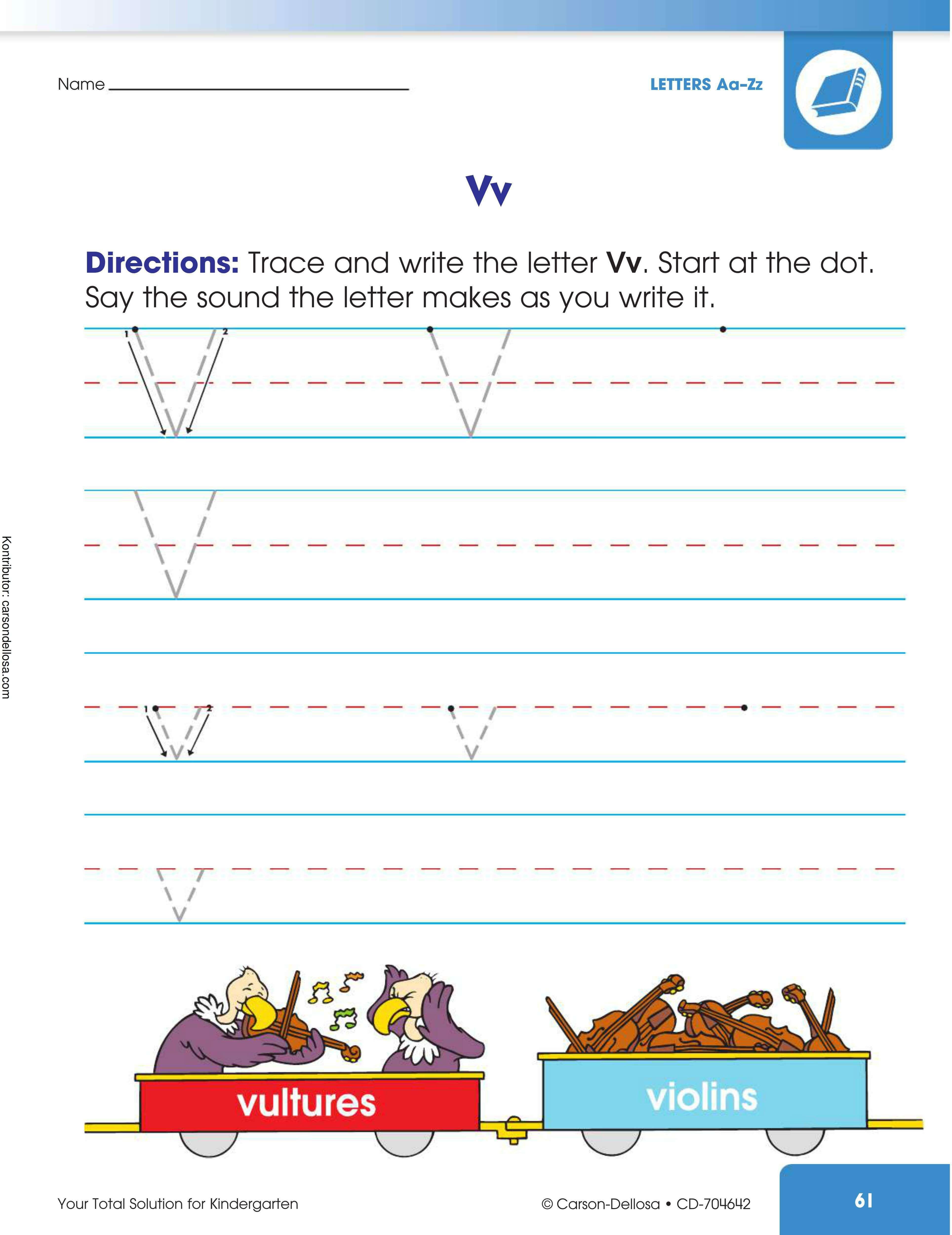 "Belajar Mengenal dan Menulis Huruf ""V"" Besar dan ""v"" Kecil"